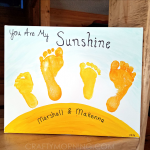 """You Are My Sunshine"" Sibling Footprint Canvas"
