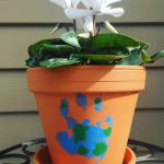 Earth Day Handprint Flower Pot Craft