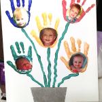 Flower Handprint Bouquet (Photo Keepsake Gift)