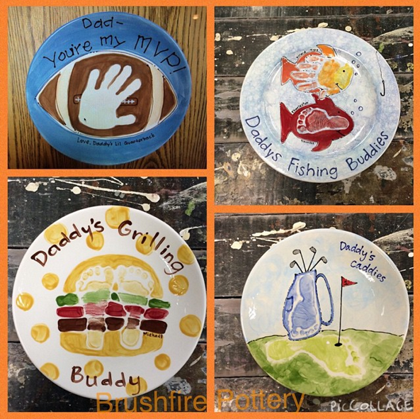 footprint-fathers-day-plates-kids-gift-crafts