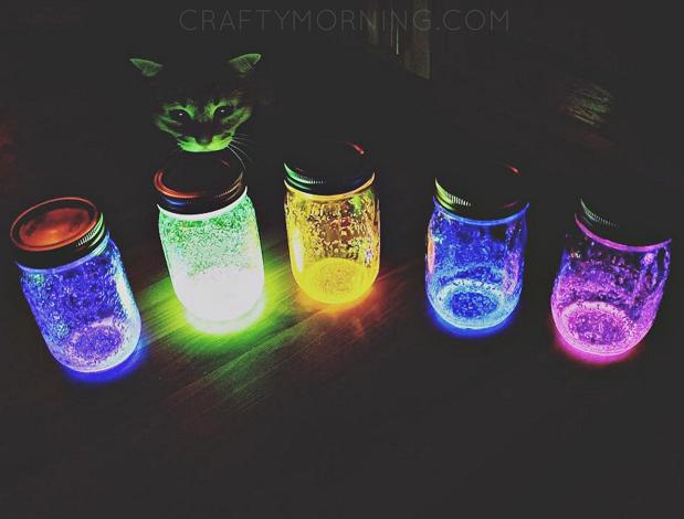 How To Make Glowing Jars Using Glow Sticks Crafty Morning