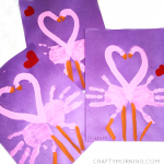 Handprint Pink Flamingo Valentines Day Craft