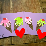 Handprint Ice Cream Cone Craft