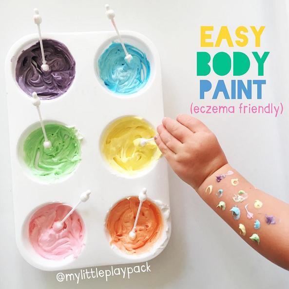 Homemade Body Paint Recipe Eczema Friendly Crafty Morning