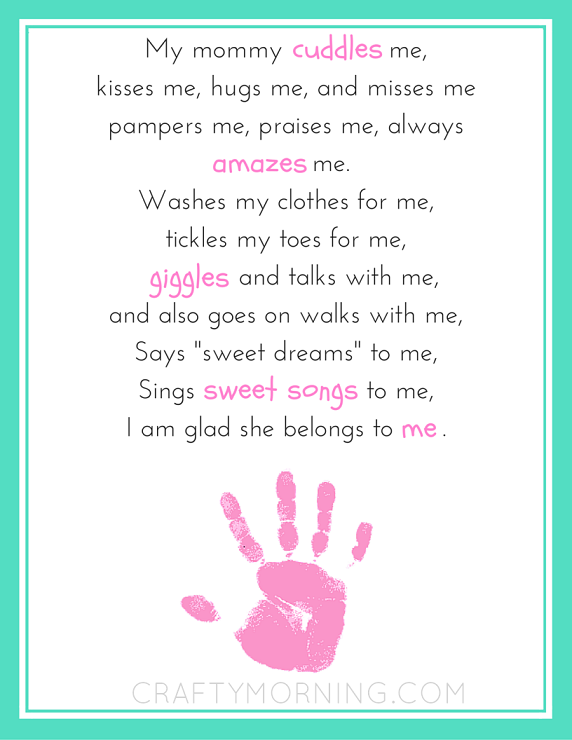 9 Free Mothers Day Printables Poems Crafty Morning