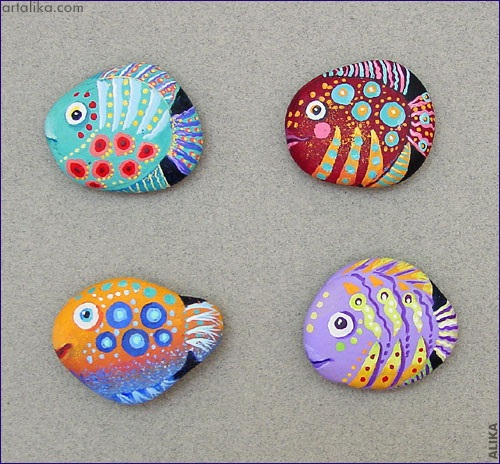 paint-rocks-like-fish-craft
