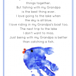 Fishing with Grandpa/Daddy Printable Poems