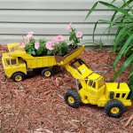 DIY Metal Truck Planters