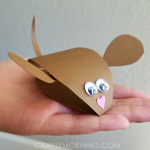 3D Paper Mouse Craft for Kids