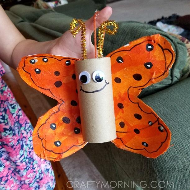 Cardboard Tube Butterfly Kids Craft Crafty Morning