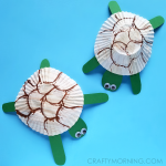 Cupcake Liner Turtle Craft for Kids