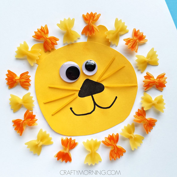 pasta-noodle-lion-kids-craft