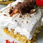 Caramel Twix Poke Cake