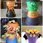 Flower Pot Halloween Crafts