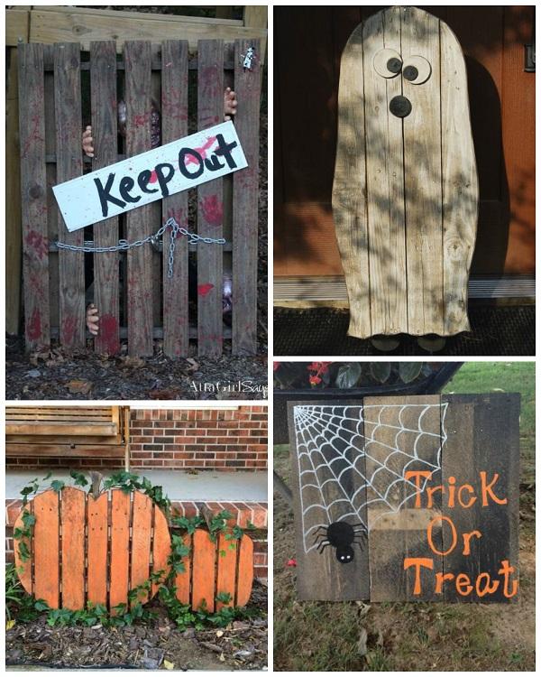 Best Halloween Wood Pallet Decorations Crafty Morning