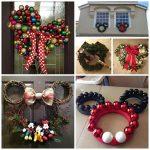 Minnie & Mickey Mouse Christmas Wreaths