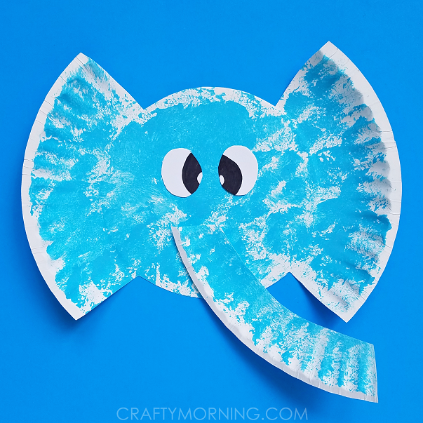 Paper Plate Elephant Kids Craft Crafty Morning
