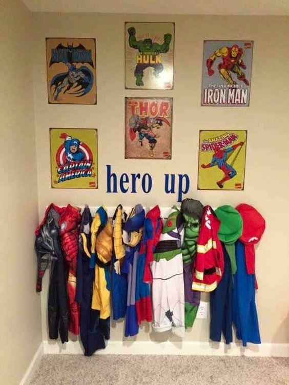 super-hero-up-wall-idea