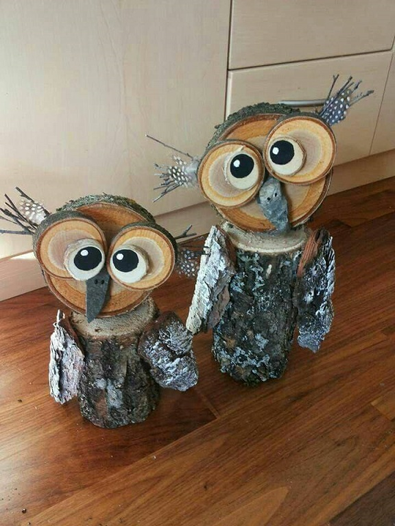 wood-owl-fall-decorations