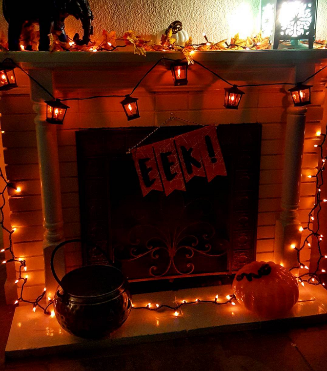 haunted-halloween-fireplace-decoration