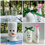 Turn Bottles into Snowmen