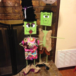 Wood Block Frankenstein Decorations