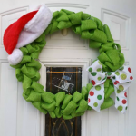 Grinch Stole Christmas Burlap Wreath