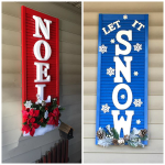 Decorated Christmas Shutters