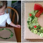 Button Christmas Wreath Craft