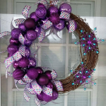DIY Purple Winter Wreath