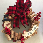 Wine Cork Christmas Wreath Craft