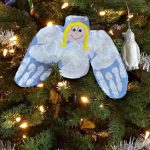 DIY Angel Handprint Craft For Kids