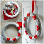Yarn and Felt Valentine's Day Wreath