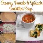 Creamy Tomato & Spinach Tortellini Soup