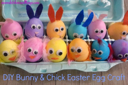 DIY Bunny & Chick Easter Egg Craft