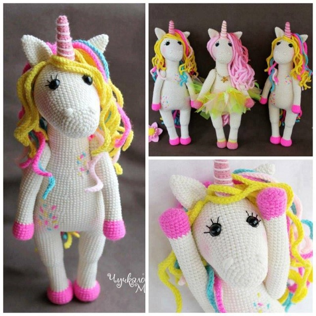 Ravelry: Tiny unicorn amigurumi pattern by Ahooka Migurumi | 640x640