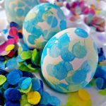 Confetti Tissue Paper Easter Eggs