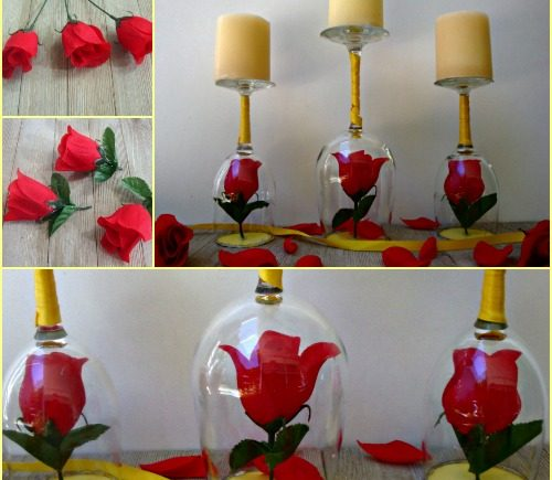 Diy Beauty And The Beast Candle Holders Crafty Morning