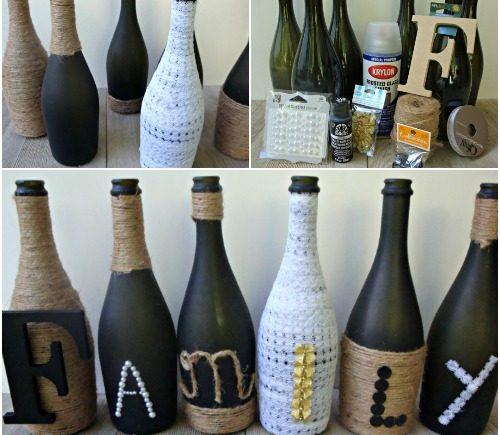 Diy Wine Bottle Craft Crafty Morning