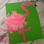 Flamingo Handprint Craft For Kids