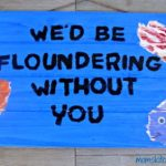 Father's Day Fishing Pun Handprint Craft