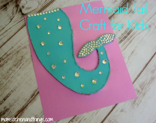 Mermaid Tail Craft For Kids Crafty Morning