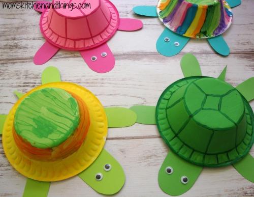 Styrofoam Bowl Turtles - Crafty Morning | 387x500