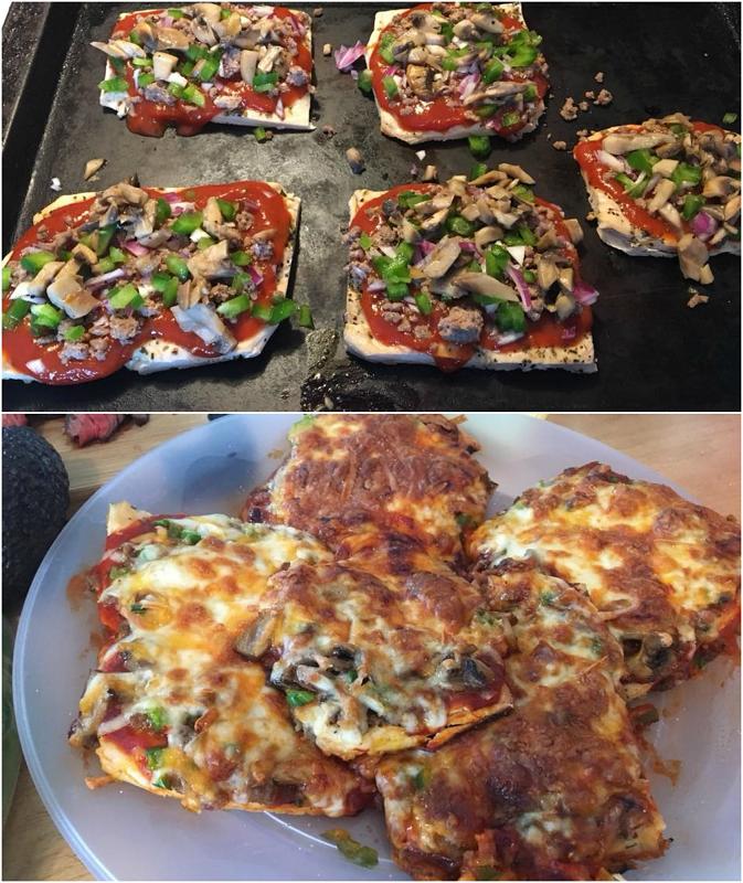 Chicken Crust Personal Pizzas