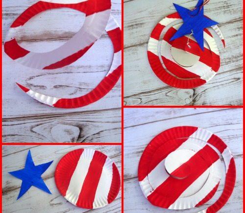 Patriotic Paper Plate Wind Catcher