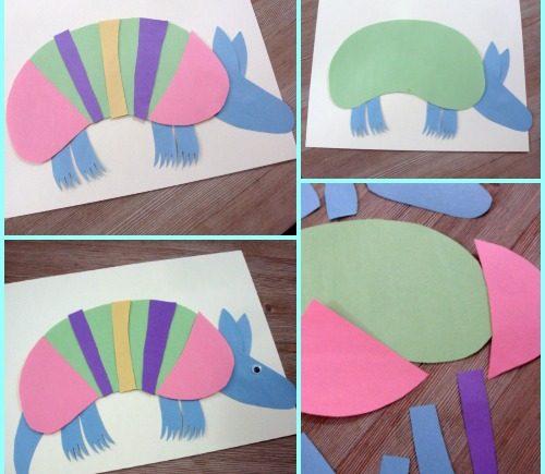 Rainbow Armadillo Craft for Kids