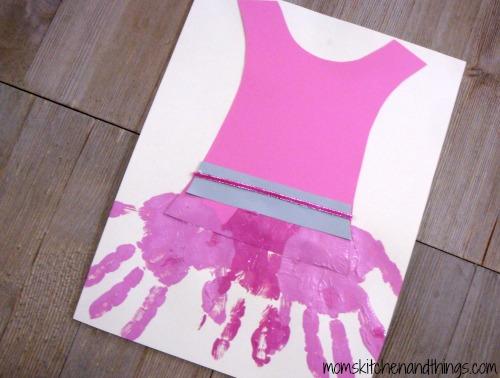 Ballerina Dress Handprint Craft