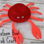 Styrofoam Bowl Crab Craft