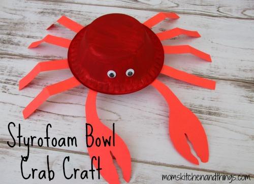 Styrofoam Bowl Crab Craft
