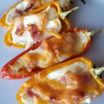 Keto Mini Sweet Pepper Bacon Poppers